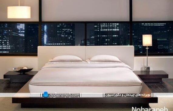 سرویس خواب ساده و مدرن برای اتاق عروس