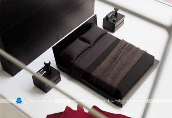 سرویس خواب و مبلمان اتاق عروس با رنگ سیاه / عکس