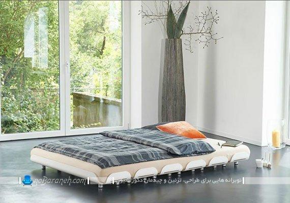 تخت خواب دو نفره با طراحی کمجا و جابجایی راحت