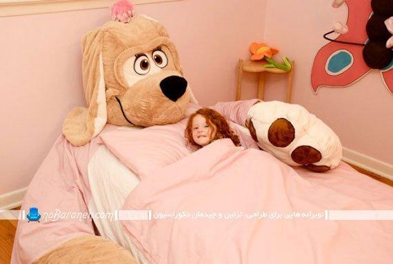 تخت خواب عروسکی دخترانه شیک فانتزی مدرن. طرح و مدل جدید سرویس خواب دخترانه بچه گانه شیک و زیبا.