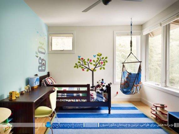 مدل صندلی ننو آویزان برای اتاق خواب کودک