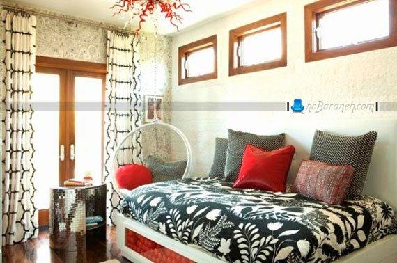 نصب تاب صندلی ریلکسی در اتاق خواب زوجین