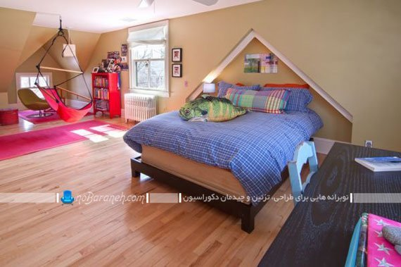 صندلی های آویزان برای دکوراسیون داخلی اتاق خواب