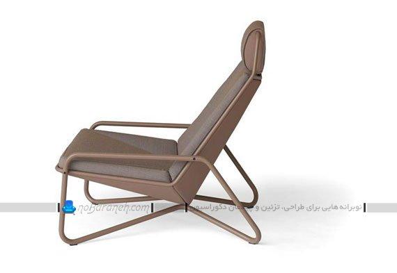 صندلی انتظار با پایه هایفلزی و بدنه چرمی
