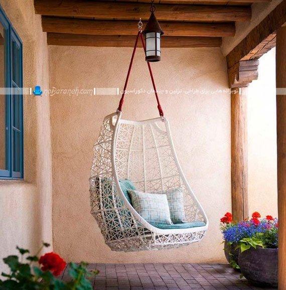 عکس و مدل های تاب صندلی آویزان برای فضای خارجی و داخلی ...