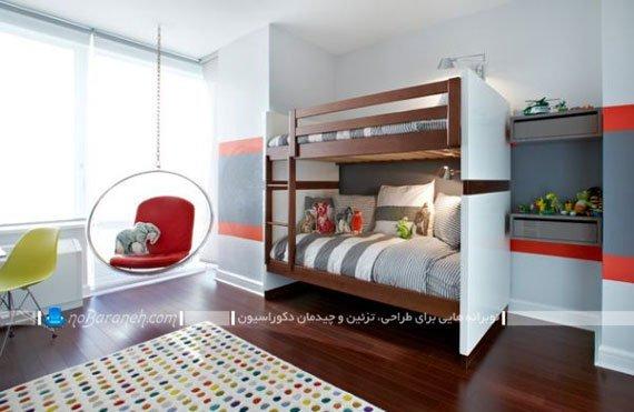 صندلی های فانتزی و آویزان یک نفره برای اتاق کودک