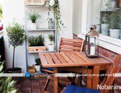 تبدیل بالکن خانه به اتاق ناهارخوری کوچک و دنج