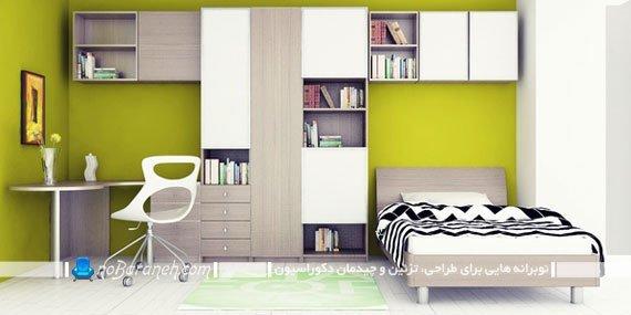 رنگ آمیزی اتاق نوجوان با سبز به شکل دخترانه