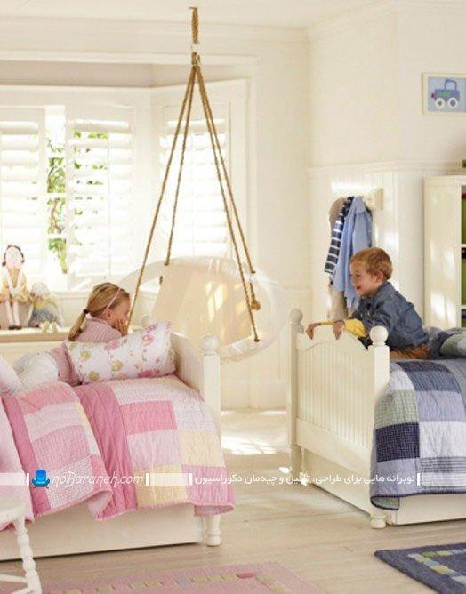 دیزاین اتاق مشترک دختر و پسر به شکل کودکانه