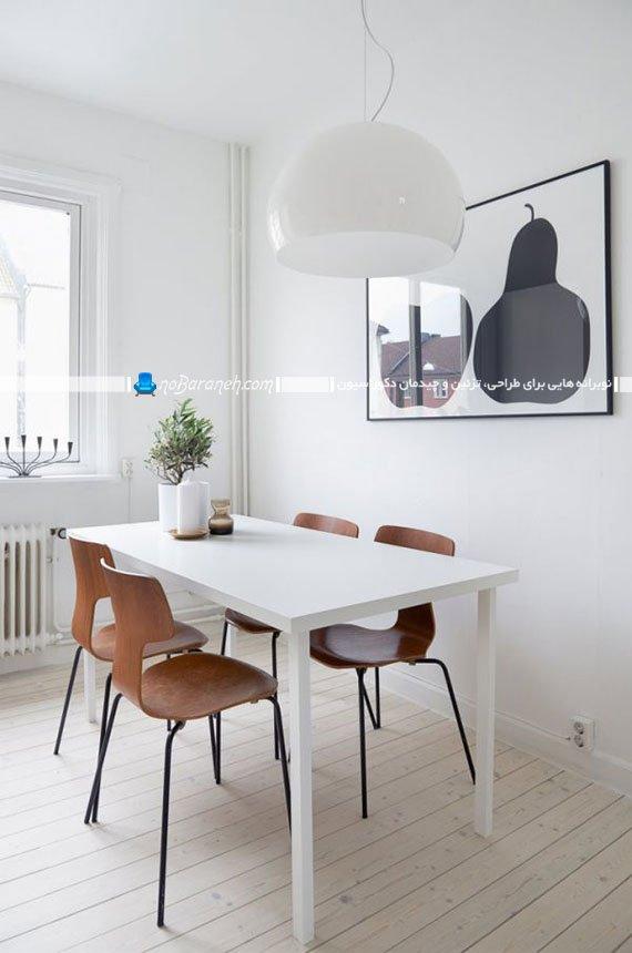میز نهارخوری چهار نفره و سفید / عکس