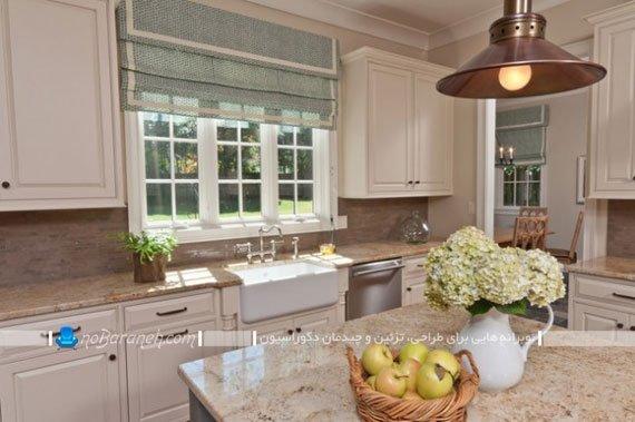 ساده ترین مدل پرده آشپزخانه