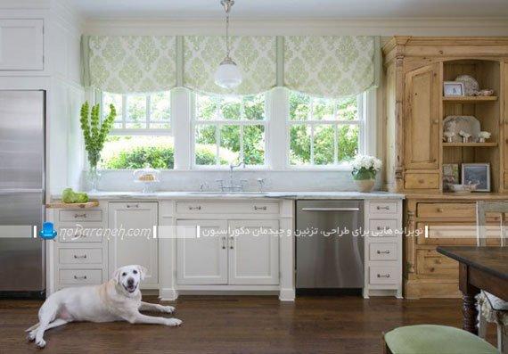 والان پرده سه تکه پنجره آشپزخانه / عکس