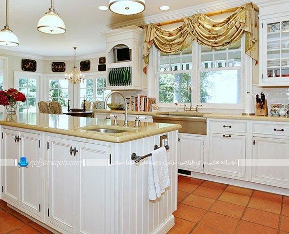 والان پرده چین دار آشپزخانه / عکس