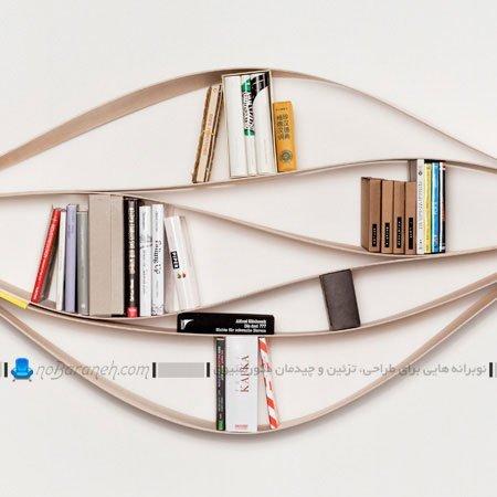 مدل جدید کتابخانه خانگی و چوبی / عکس