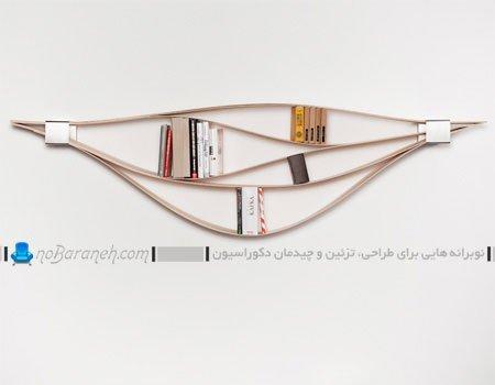 مدل کتابخانه دیواری و کمجا / عکس