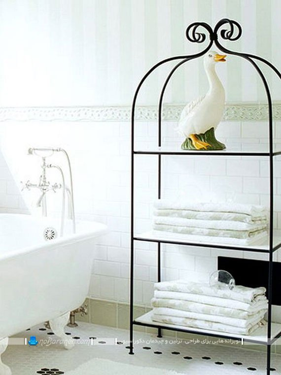 جاحوله ای فرفورژه برای حمام و دستشویی / عکس