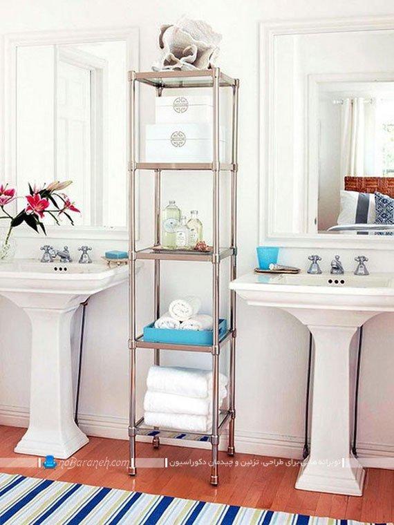 طبقه بندی فلزی در حمام و دستشویی / عکس