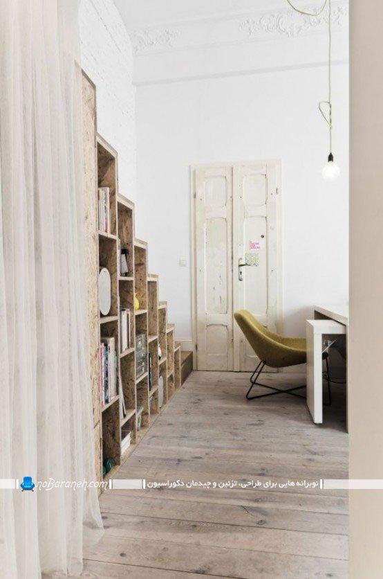 طراحی دکوراسیون چوبی در خانه 30 متری