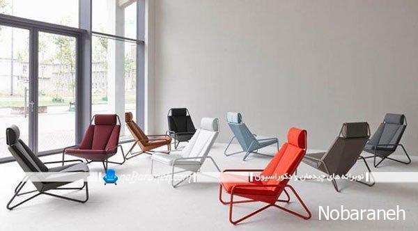 مدل صندلی انتظار با رنگ بندی متنوع