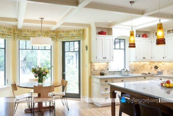 طرح جدید پرده آشپزخانه / عکس