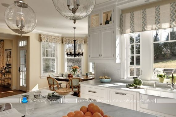 پرده و آفتاب گیر پنجره آشپزخانه / عکس