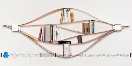کتابخانه خانگی ساده و مینیمالیستی / عکس