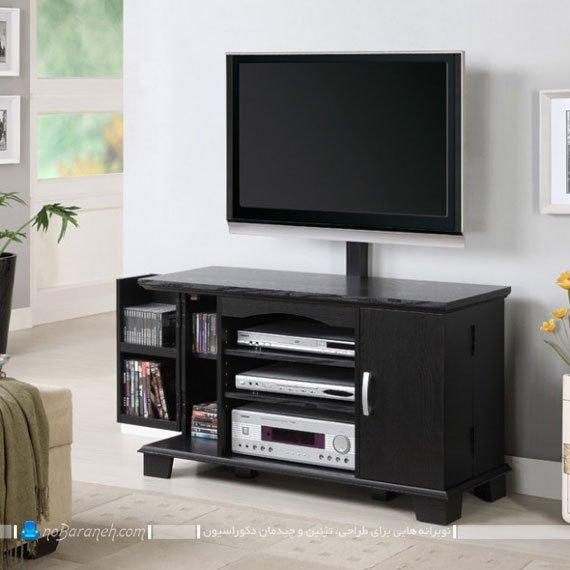 میز تلویزیون با فضای چیدمان دک و ضبط