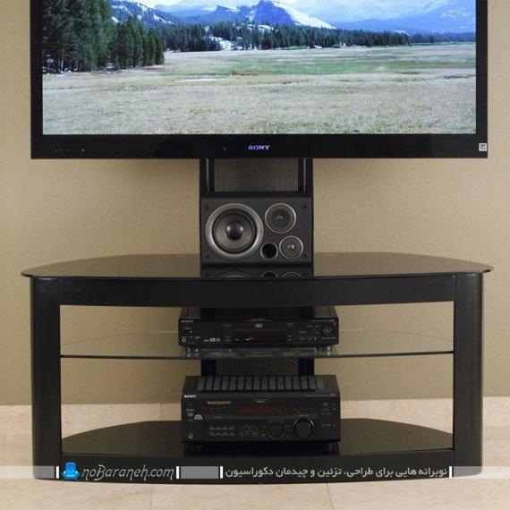 میز تلویزیون ساده با جای گذاشتن دک