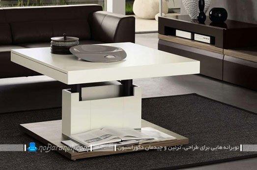 میز جلو مبلی ام دی اف با قابلیت تغییر ارتفاع