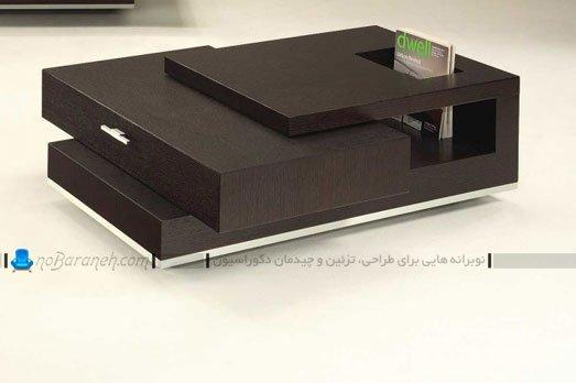 مدل جدید میز جلو مبلی چوبی / عکس