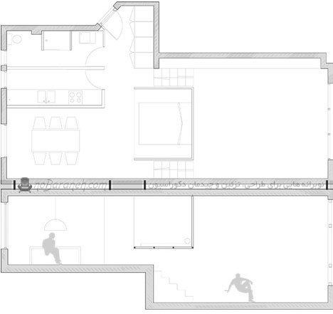 نقشه پلان خانه کوچک 50 متری