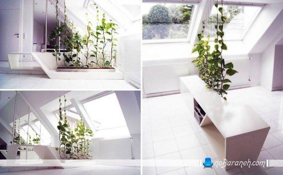 مدل پارتیشن خانگی با گل و گیاه