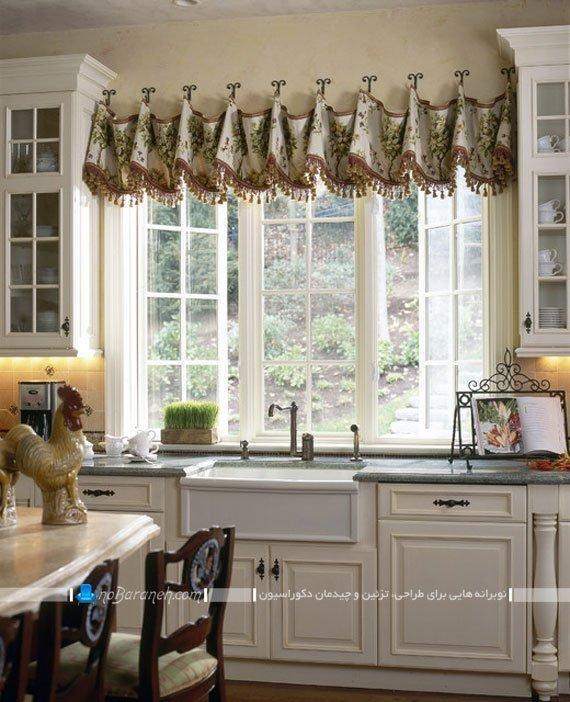 تزیین شیک و فانتزی پنجره آشپزخانه / عکس