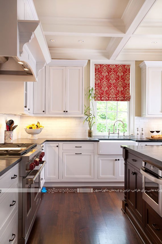 پرده طرح دار برای آشپزخانه / عکس