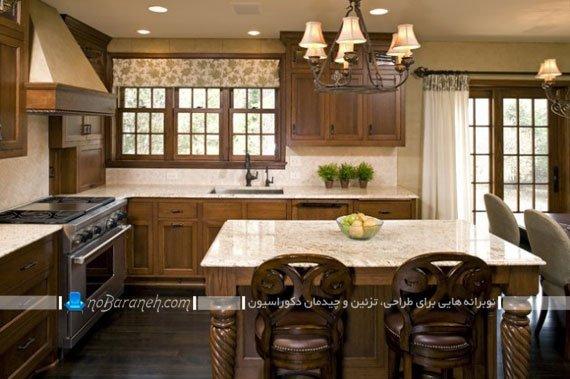 مدل جدید والان پرده آشپزخانه با طرح های زیبا