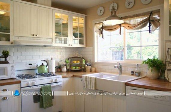 پرده کنفی و عمودی آشپزخانه / عکس