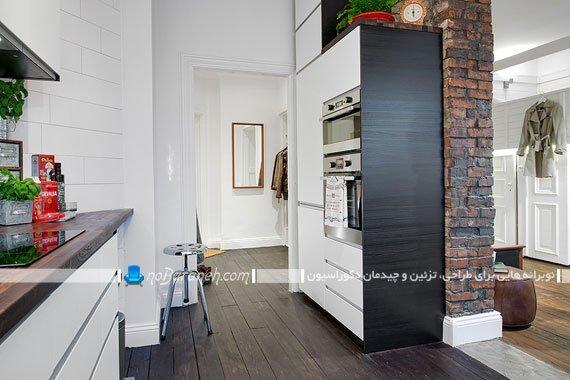 دیزاین آشپزخانه در منزل کوچک 40 متری