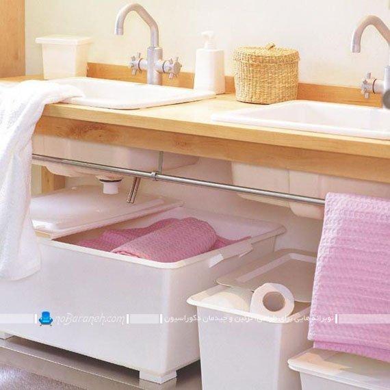 استفاده بهینه از فضای زیر دستشویی / عکس