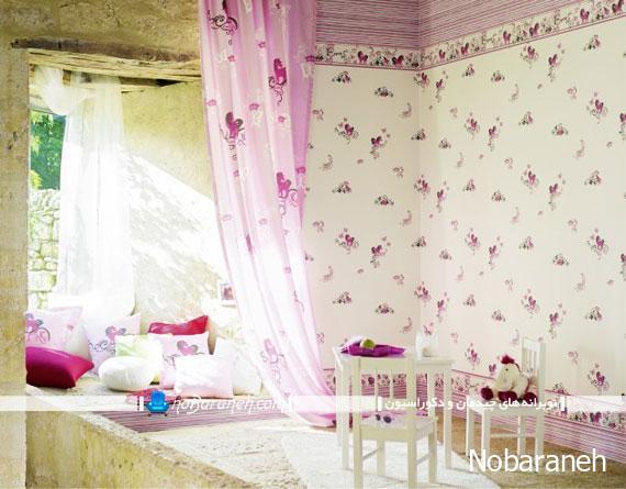 کاغذ دیواری اتاق بچه نوزاد