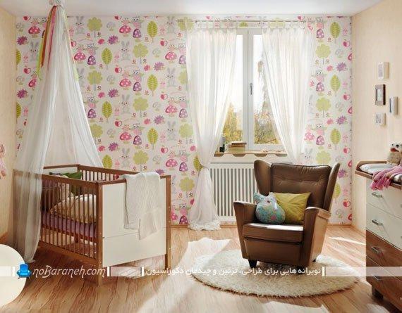 کاغذ دیواری اتاق کودک / عکس