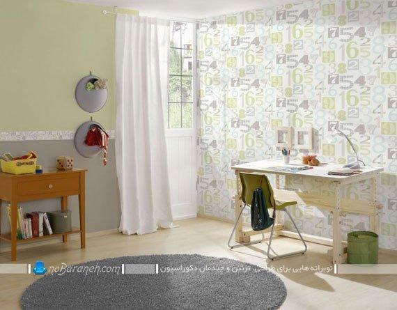 کاغذ دیواری پسرانه و شیک اتاق بچه