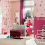 کاغذ دیواری اتاق کودک دختر و پسر با طرح های شاد بچگانه