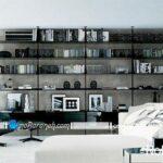 مدل کتابخانه های خانگی دکوری و چوبی برای سالن خانه