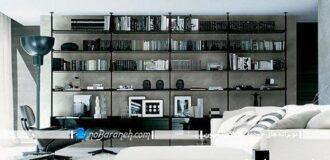 طرح جدید و ظریف کتابخانه خانگی و آپارتمانی