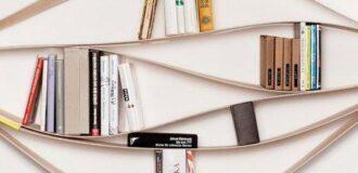 مدل کتابخانه شیک و چوبی کوچک و کمجا