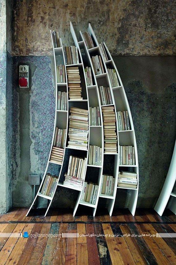 مدل کتابخانه خانگی برای چیدمان روی زمین