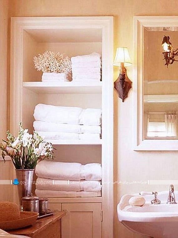 قفسه بندی فضای داخلی حمام / عکس