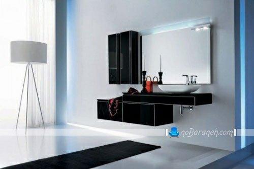 مدل جدید و شیک کابینت و روشویی توالت
