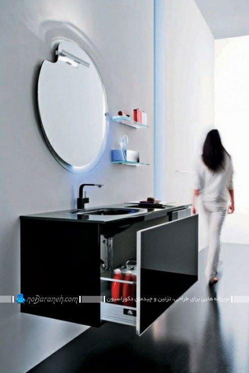 ست کامل کمد و آینه و کابینت دستشویی / عکس