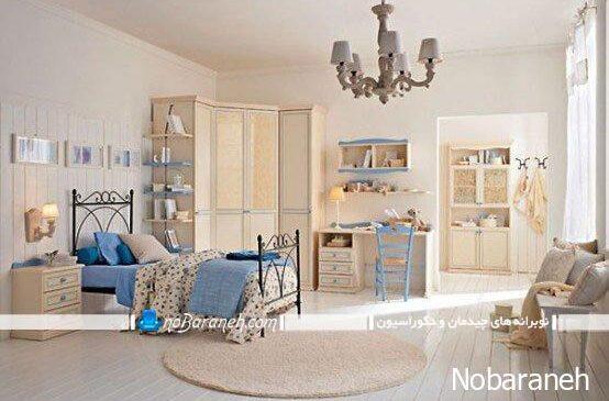 دیزاین اتاق خواب کودکان و نوجوانان به شکل سلطنتی
